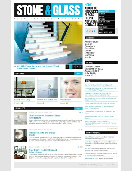 ADOBE Photoshop Template 57248 Home Page Screenshot