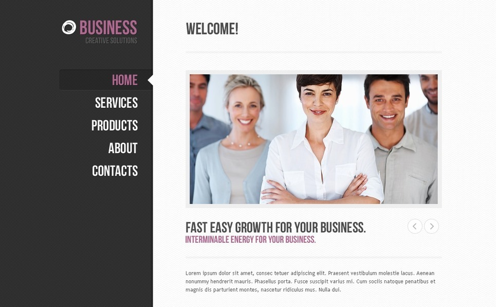 Template Photoshop  para Sites de Business & Services №57249 New Screenshots BIG