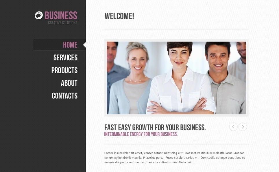 PSD шаблон №57249 на тему Бизнес и услуги New Screenshots BIG