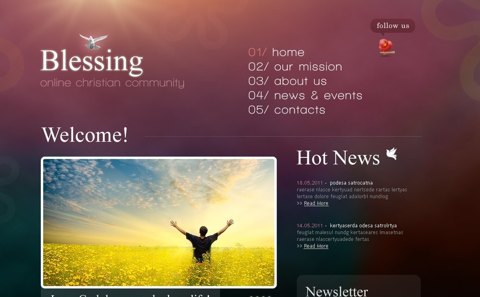 PSD Template over Christelijke  New Screenshots BIG