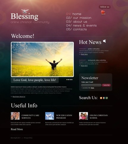 ADOBE Photoshop Template 57251 Home Page Screenshot
