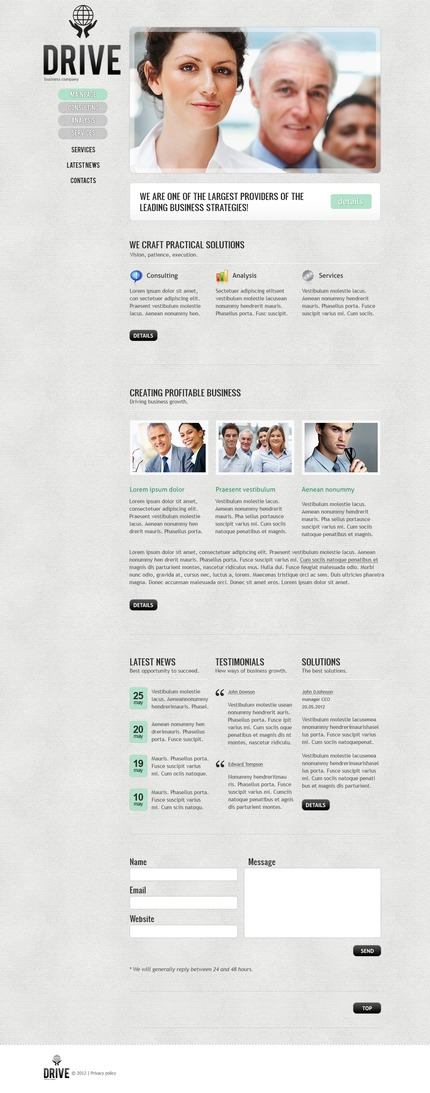 ADOBE Photoshop Template 57252 Home Page Screenshot