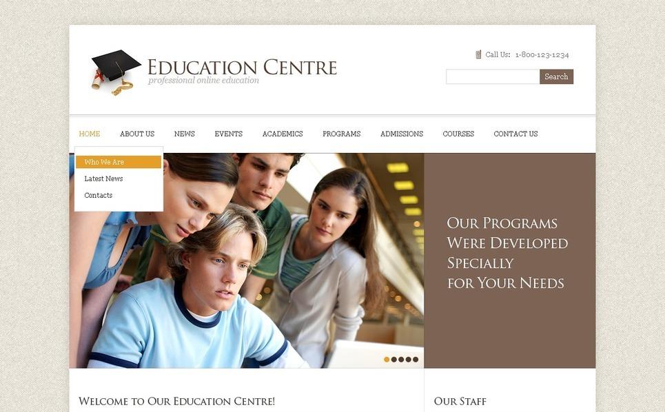 PSD šablona Vzdělání New Screenshots BIG