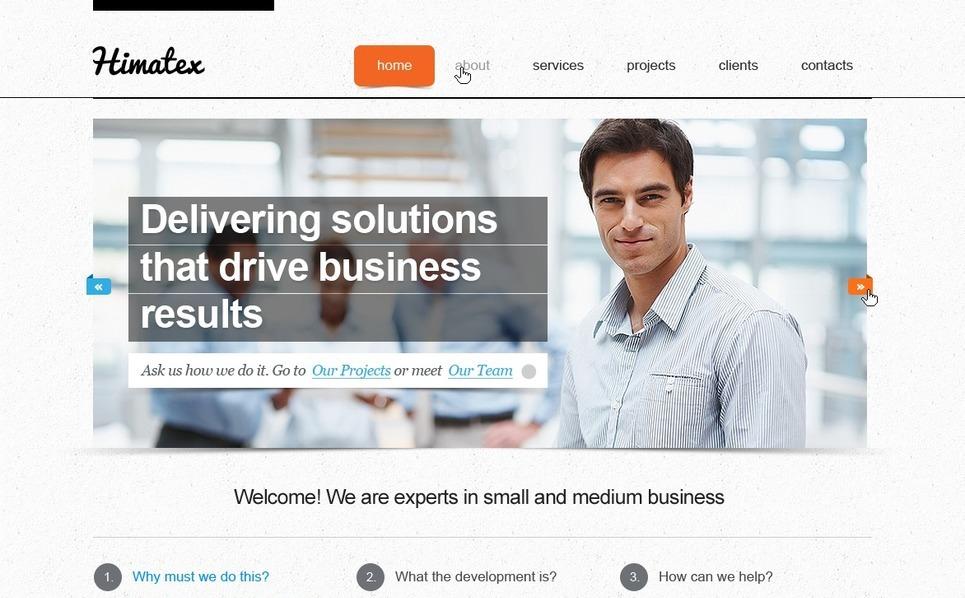 Plantilla PSD #57257 para Sitio de Negocio y Servicios New Screenshots BIG