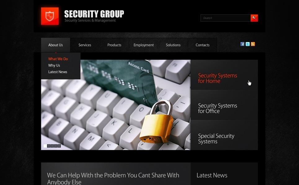 Plantilla PSD #57260 para Sitio de Seguridad de información New Screenshots BIG