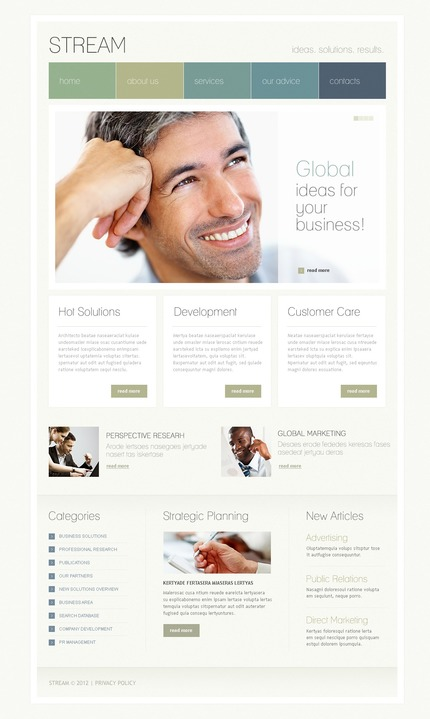 ADOBE Photoshop Template 57262 Home Page Screenshot