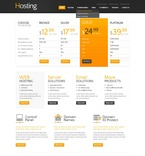 Web Hosting PSD  Template 57263