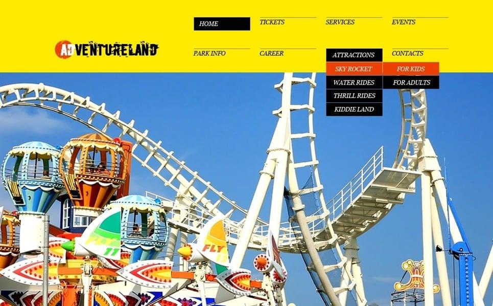 PSD шаблон на тему парк розваг New Screenshots BIG