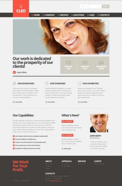 ADOBE Photoshop Template 57267 Home Page Screenshot