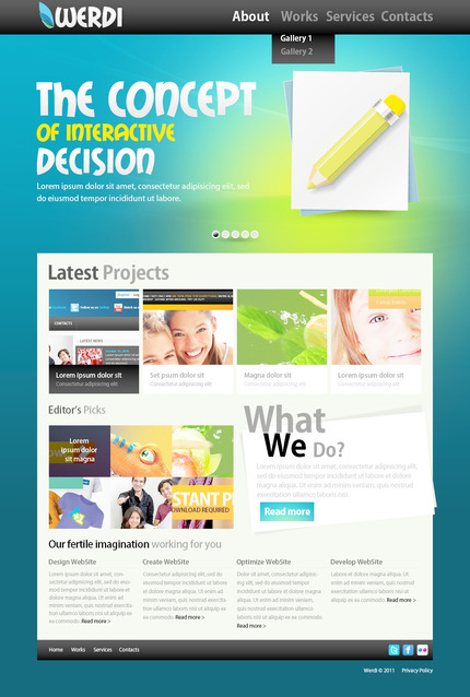 ADOBE Photoshop Template 57268 Home Page Screenshot