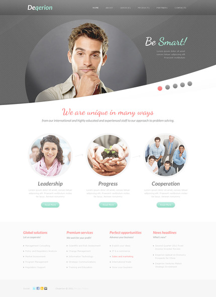 ADOBE Photoshop Template 57269 Home Page Screenshot