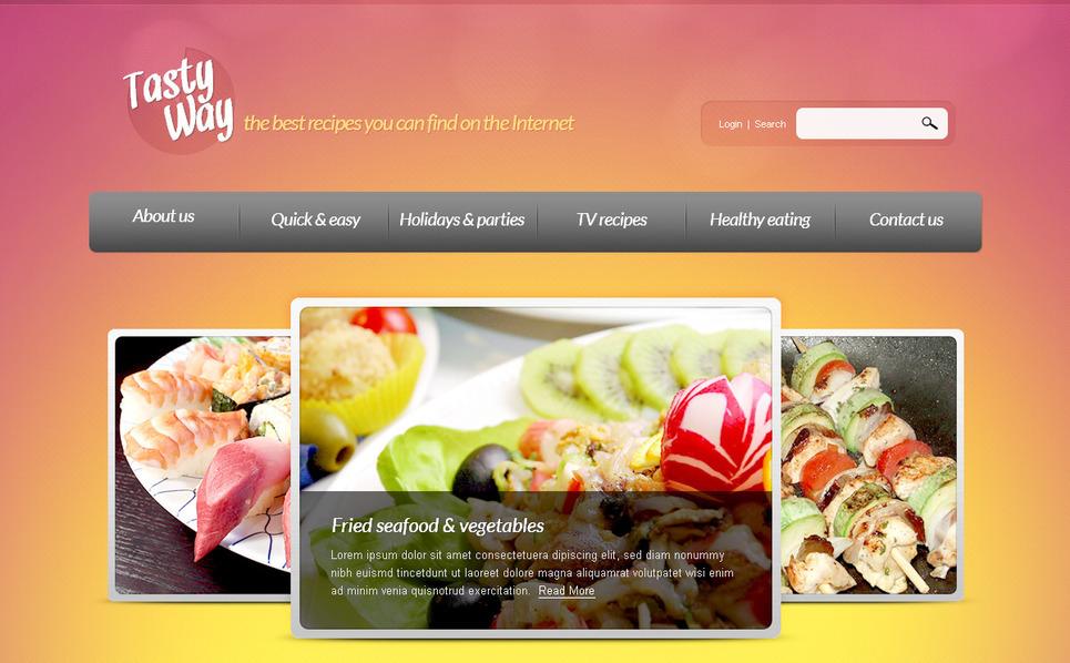 Szablon PSD #57274 na temat: gotowanie New Screenshots BIG