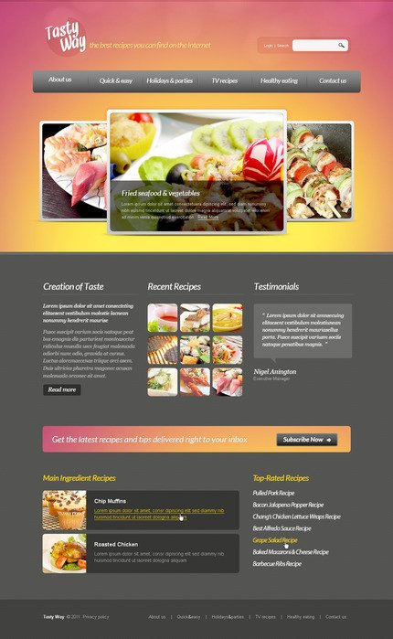 ADOBE Photoshop Template 57274 Home Page Screenshot