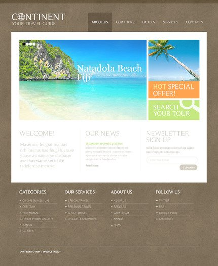ADOBE Photoshop Template 57275 Home Page Screenshot