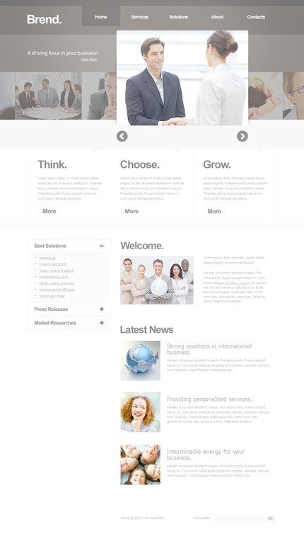 ADOBE Photoshop Template 57276 Home Page Screenshot