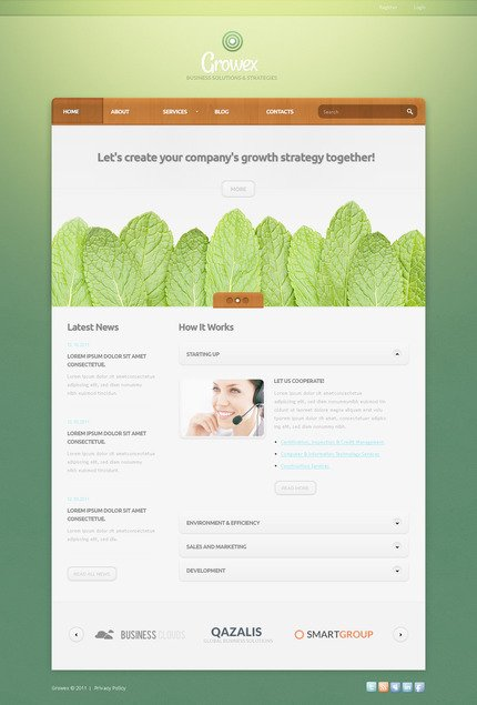 ADOBE Photoshop Template 57277 Home Page Screenshot