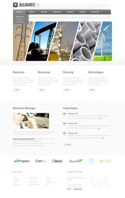 ADOBE Photoshop Template 57278 Home Page Screenshot