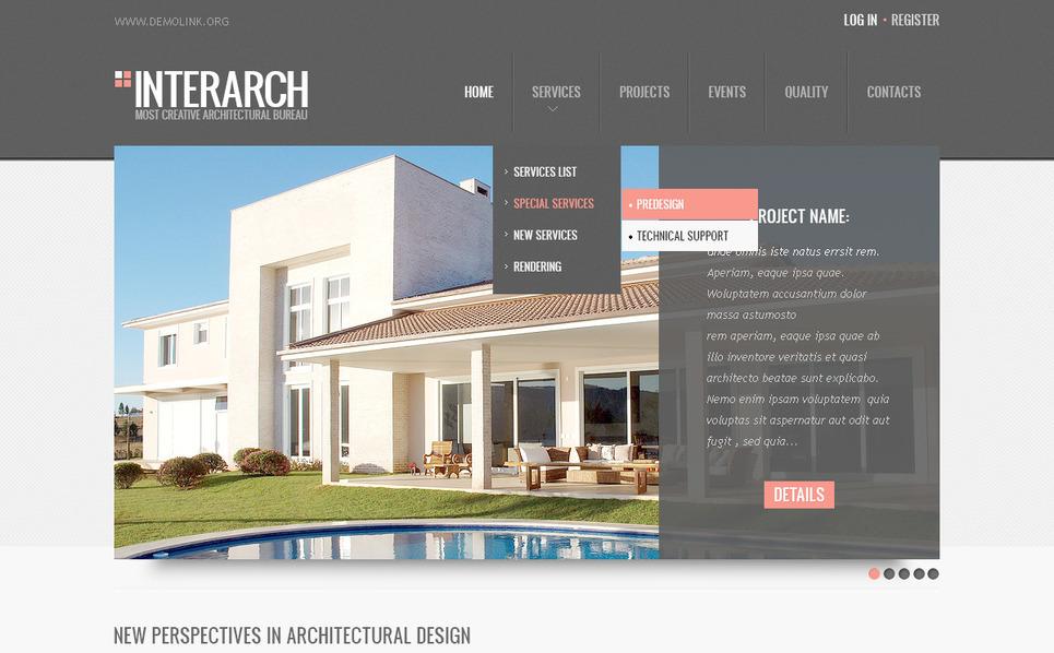 PSD Vorlage für Architektur New Screenshots BIG