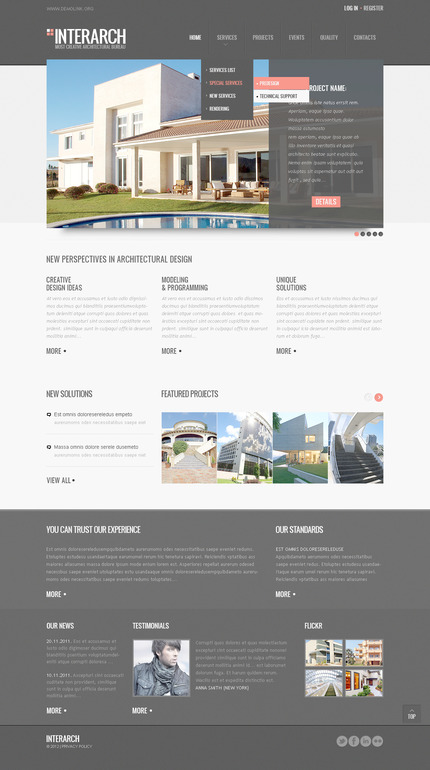PSD макет сайта №57281