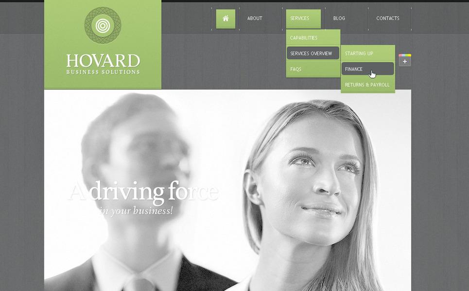 Szablon PSD #57284 na temat: biznes i usługi New Screenshots BIG