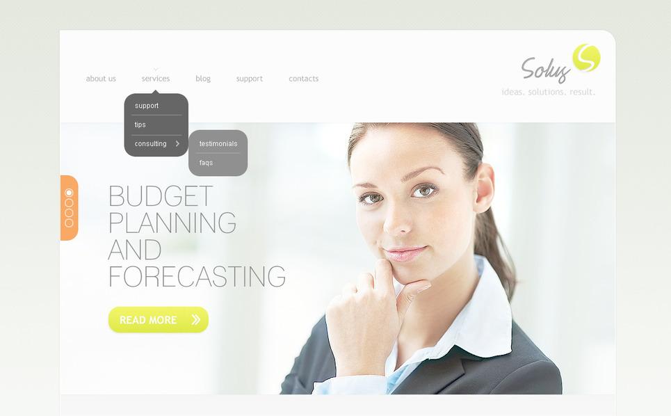 Plantilla PSD #57288 para Sitio de Negocio y Servicios New Screenshots BIG