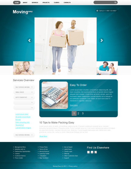 ADOBE Photoshop Template 57289 Home Page Screenshot