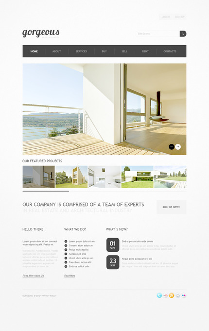 PSD макет сайта №57290