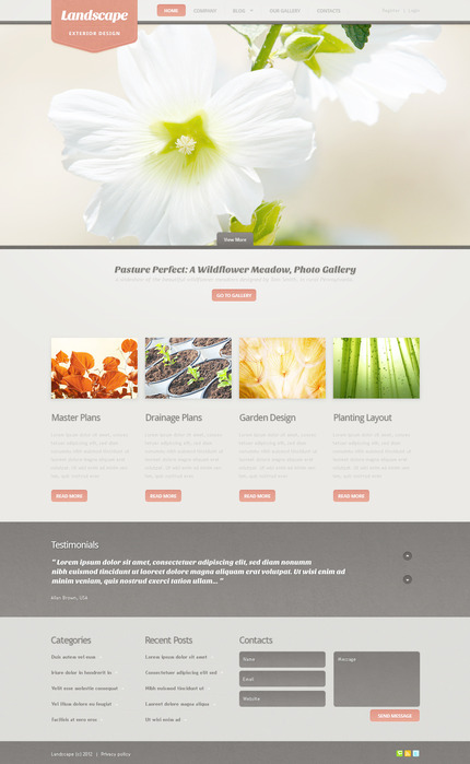 ADOBE Photoshop Template 57295 Home Page Screenshot