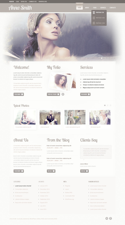 ADOBE Photoshop Template 57297 Home Page Screenshot