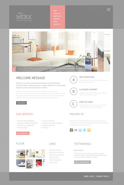 ADOBE Photoshop Template 57298 Home Page Screenshot