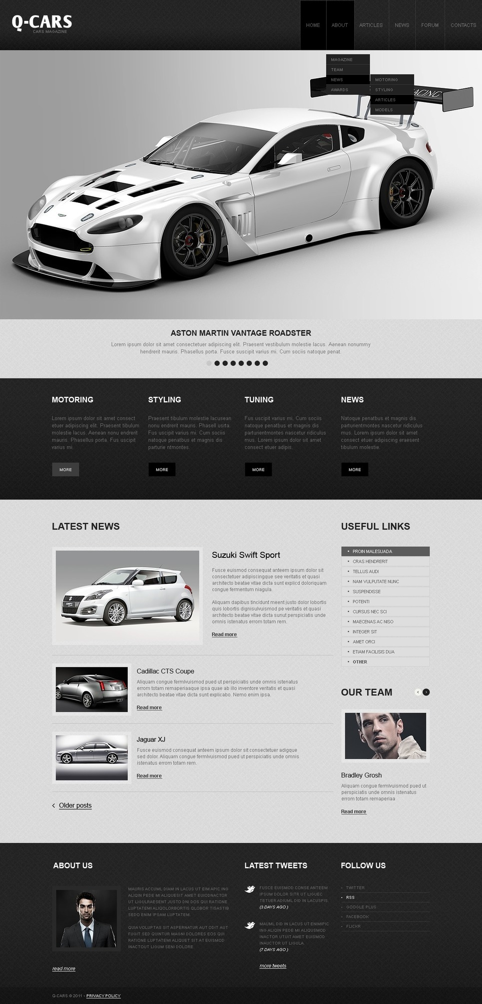 Car Dealer PSD Template New Screenshots BIG