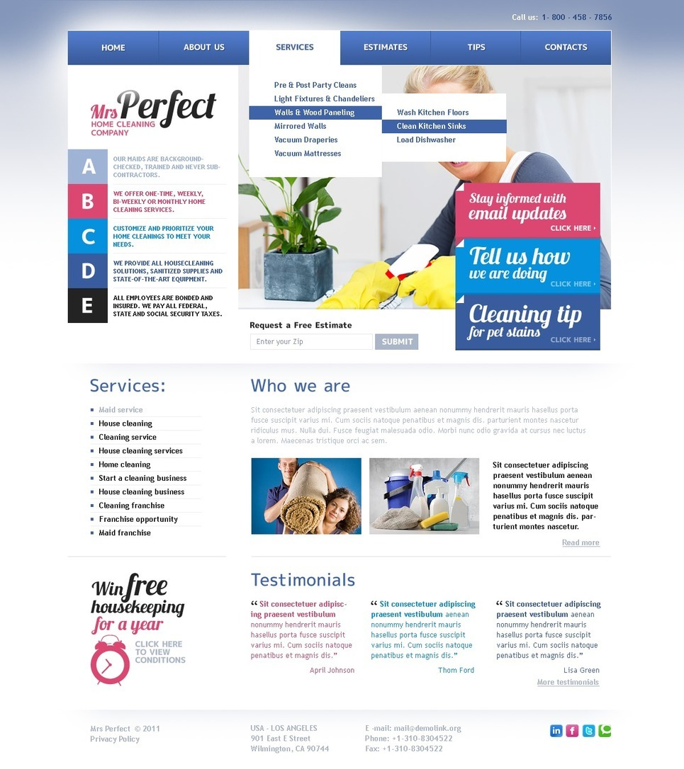 Cleaning PSD Template New Screenshots BIG
