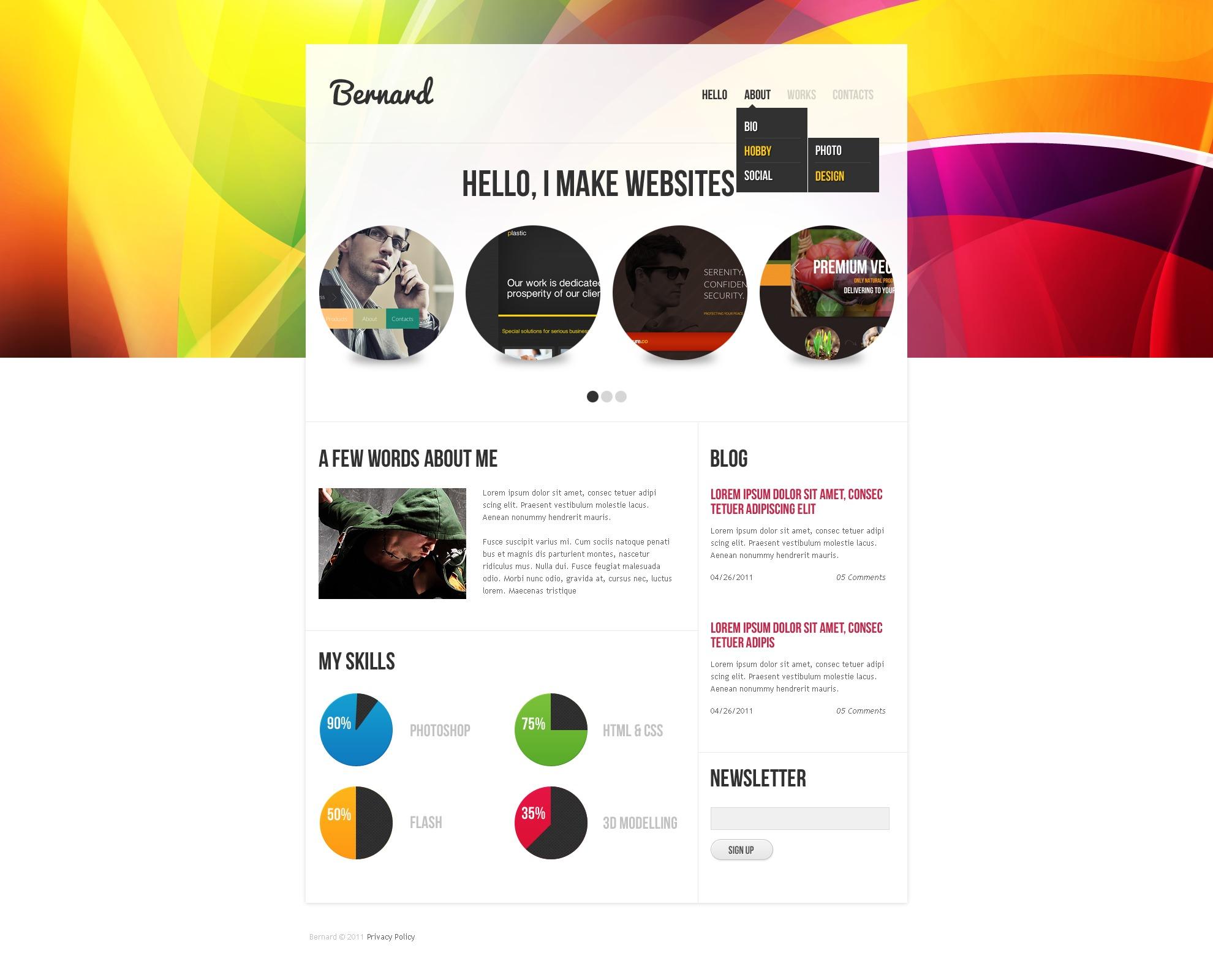 Designer Portfolio PSD Template