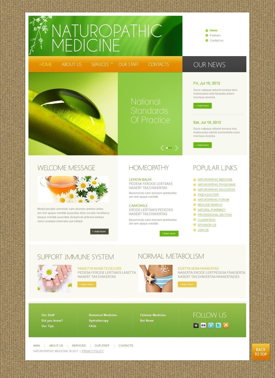 Herbal PSD Template New Screenshots BIG