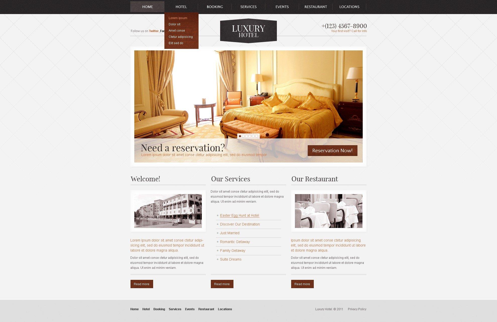 Hotels PSD Template - screenshot