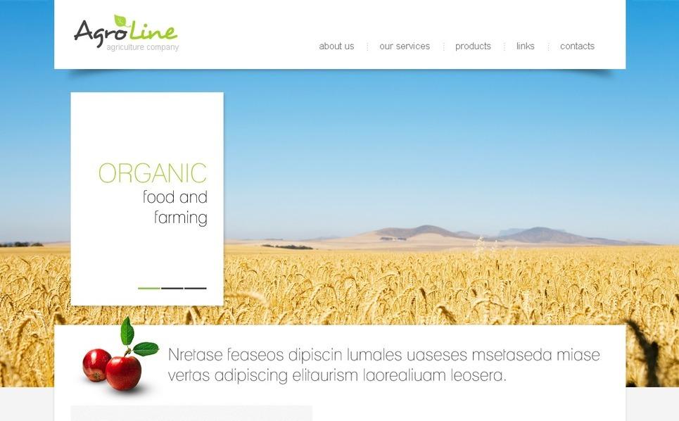Mezőgazdaság PSD sablon New Screenshots BIG