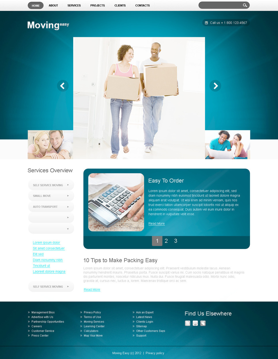 Moving Company PSD Template New Screenshots BIG