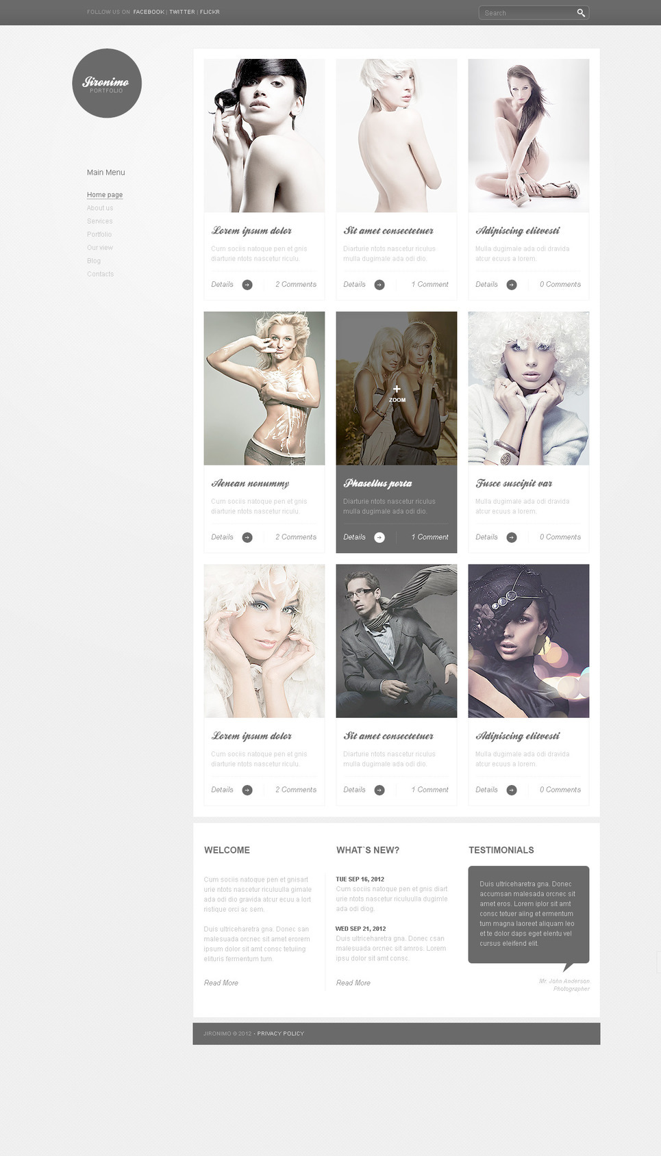 Photo Studio PSD Template New Screenshots BIG