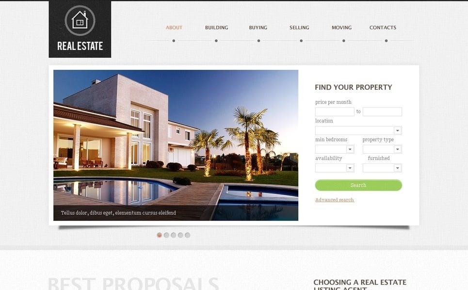 Plantilla PSD #57214 para Sitio de Agencia inmobiliaria New Screenshots BIG