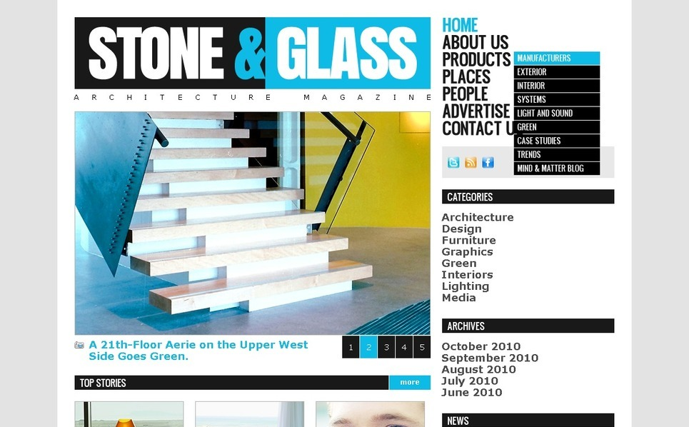 PSD Template over Architectuur New Screenshots BIG