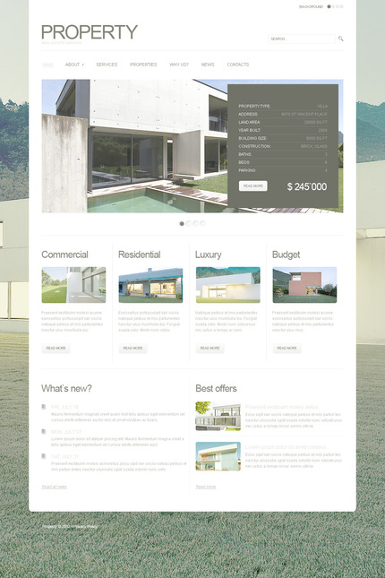ADOBE Photoshop Template 57301 Home Page Screenshot