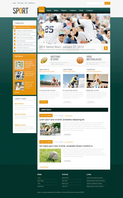 ADOBE Photoshop Template 57302 Home Page Screenshot
