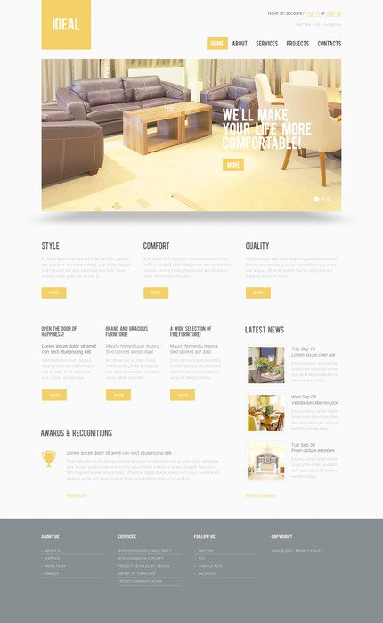 ADOBE Photoshop Template 57305 Home Page Screenshot