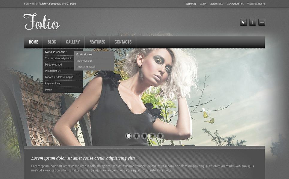 Fényképész portfóliók PSD sablon New Screenshots BIG