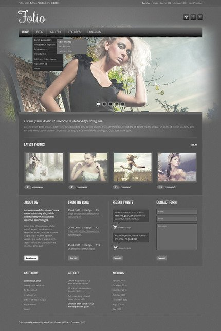ADOBE Photoshop Template 57307 Home Page Screenshot