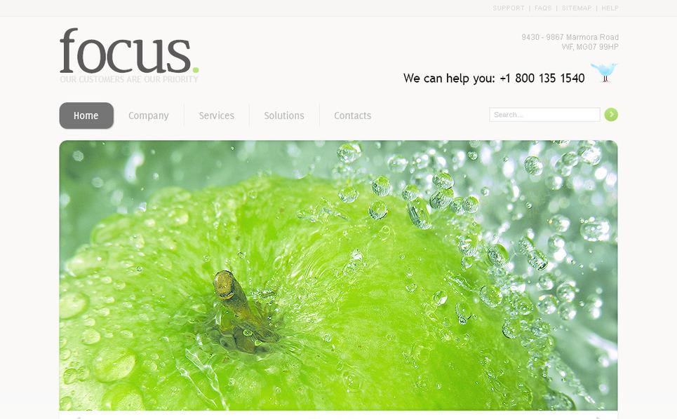 Plantilla PSD #57309 para Sitio de Negocio y Servicios New Screenshots BIG