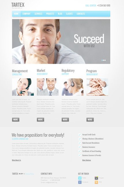 ADOBE Photoshop Template 57310 Home Page Screenshot