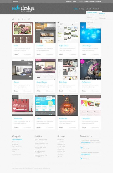 ADOBE Photoshop Template 57312 Home Page Screenshot