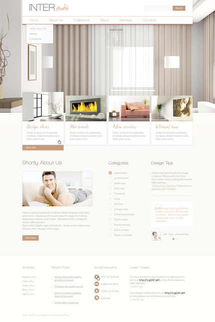 ADOBE Photoshop Template 57313 Home Page Screenshot