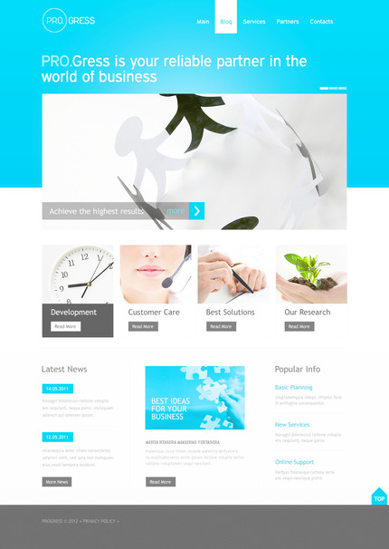 ADOBE Photoshop Template 57314 Home Page Screenshot